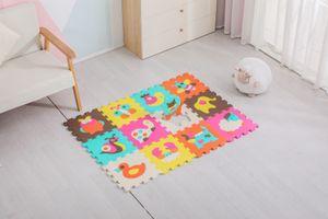Avior Kids Kinder Puzzlematte Kinderteppich Spiel-Teppich Spielmatte 12-TLG, Tier mehrfarbig