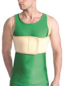 Herren Bandage Fixierung Brustkorb Rücken Brust Klettverschluss Gurt 4301 beige S/L