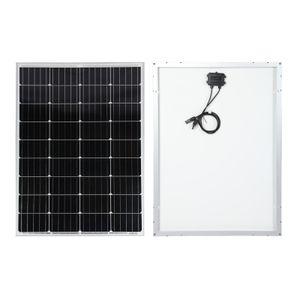 Solarmodul 100W 12V Monokristallin Solarzelle Solarpanel für Solaranlagen