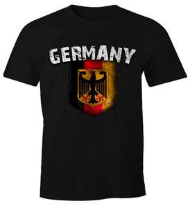 Cooles Herren Fußball WM EM T-Shirt Deutschland Flaggen Design Vintage Look  3XL
