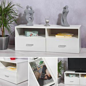 Lowboard Weiß Sideboard Regal TV Rack Tisch Highboard Kommode Fernsehschrank