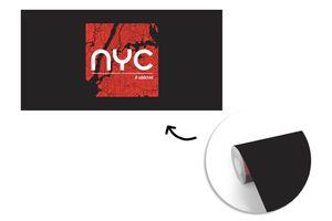 Tapeten - Fototapete - New York - NYC - Rood - 800x400 cm - Vinyl