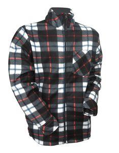 Herren Holzfäller Fleece Jacke kariert Thermo Flanell Hemd Arbeitsjacke warm, Größe:XL