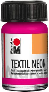 """Marabu Textilfarbe """"Textil Neon"""" neon-pink 15 ml auf Wasserbasis"""