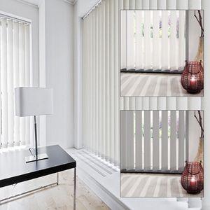 Vertikal Lamellen Set, Farbe:weiß, Breite:100 cm, Länge:260 cm