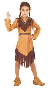 Indianer Kostüm für Mädchen, Größe:140/146