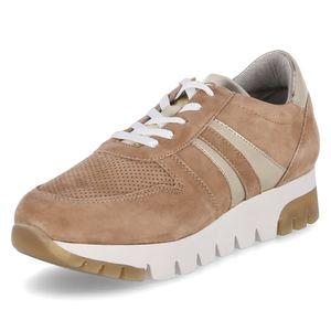 Tamaris Damen Sneaker Valla 23749 Camel light gold suede (beige), Größe:39