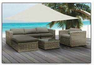 Sonnenschutz BEIGE 3,6 x 3,6 Meter Sonnensegel UV Blocker Sonnenschirm Terrasse Garte
