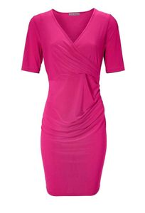 Ashley Brooke Damen Designer-Optimizer-Jerseykleid, pink, Größe:42