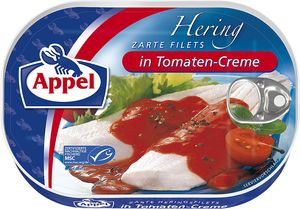 Appel Heringfilets in Tomaten Creme aus sonnengereiften Tomaten 200g