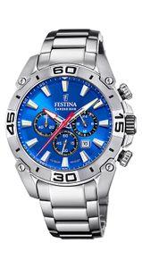 Festina Herren Uhr F20543/2 Chrono Bike Edelstahl, blau