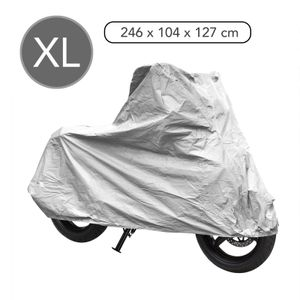Motorrad&Roller Garage XL grau 246x104x127cm Pva doppelt abgenäht 🏍️