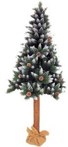Künstlicher Weihnachtsbaum Tannenbaum Christbaum Dekobaum mit Baumstamm und Kiefernzapfen 180