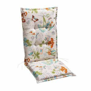 Best Freizeitmöbel Sesselauflage nieder STS 100x50x7cm Weiß-Motiv, 4101543
