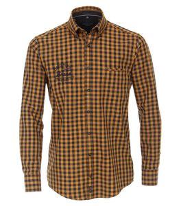 Casa Moda - Casual Fit - Herren Freizeit Hemd mit Button Down-Kragen (403555500), Größe:XXL, Farbe:Gelb (500)