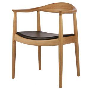 esszimmerstuhl kennedy chair Leder natürlich, Eschenholz mit Ledersitz, 63 x 52 x backheight 77cm seatheight 44cm
