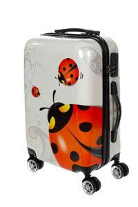 Birendy Reisekoffer Hardcase Trolley Koffer Kofferset 4 Rollen - A11 Marienkäfer, Farbe:A 11 Marienkäfer, Größe:L - Handgepäck 55x35cm