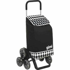 Gimi 154-623 Tris Einkaufsroller Optical Black, schwarz