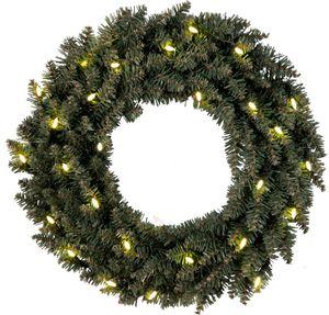 "Best Season LED-Tannenkranz ""Calgary"" beleuchtet ca.50 cm Ø30 w/w LED, grün, Trafo, outdoor, 612-60"