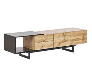 TV-Möbel heller Holzfarbton / schwarz FIORA