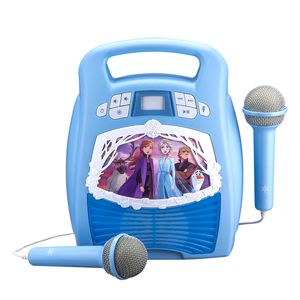 eKids Frozen 2 MP3 Karaoke With Light Show - Spielzeug-Karaoke-Set - Blau - Junge/Mädchen - Frozen 2 eKids