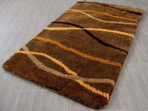 Pacific Badteppich Nevis Braun Streifen in 5 Größen, Größe:47x50 cm WC-Deckelbezug (uni)