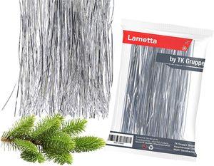 3X silber Lametta- Kein Blei - Light Stanniol Metal Technology - Material als Deko Dekoration zu Weihnachten