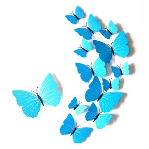 Hauptdekoration Wandaufkleber 3D 3D Aufkleber Schmetterling