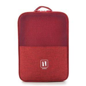 Schuhablage Tragbare 3-lagige Reiseschuhtasche Gep?ckorganisator fš¹r den t?glichen Gebrauch von Business Business Sports