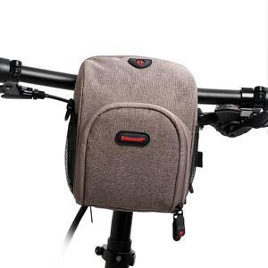 Wasserdichte Fahrradlenker-Tasche Vordertasche Fahrrad Fahrrad Handyhalter Tasche Gepäcktasche mit Regenschutz und Kopfhöreranschluss