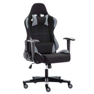 IntimaTe WM Heart - Racing Gamer Stuhl Bürostuhl Stoff, Ergonomischer Computerstuhl Drehstuhl mit Hoher Rückenlehne - Grau