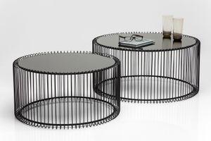 KARE Couchtisch Wire Black (2/Set); 79577