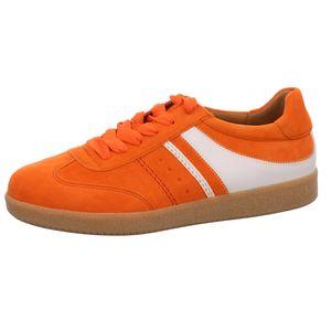 Gabor Damen Sneaker Sneaker Low Veloursleder orange 6