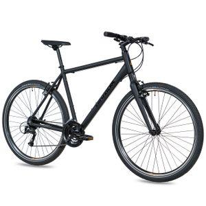 Airtracks Herren City Fahrrad Urban 28 Zoll UR.2830 Shimano Acera 24 Gang Schwarz (56cm (Körpergröße 175-185cm))