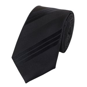 Schlips Krawatte Krawatten Binder 6cm schwarz uni gestreift Fabio Farini