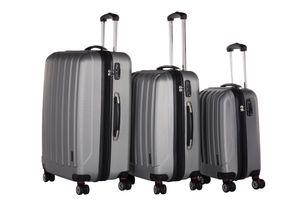 Packenger  Koffer 3er-Set Velvet M, L+XL in Silber, 54x31x78 cm; 103-003P-04