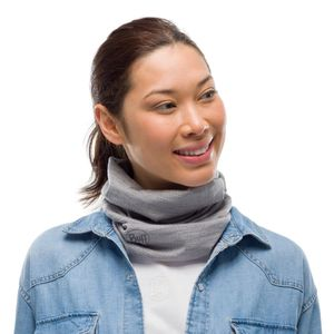 Buff Merino Wool Adult Schlauchtuch, Farbe:Light Denim Multi Stripes