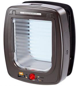 Ferplast katzen- und Hundeschlupf Mikrochip braun/transparent