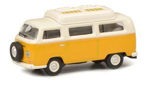 Schuco VW T2a Camper gelb/weiß 1:87
