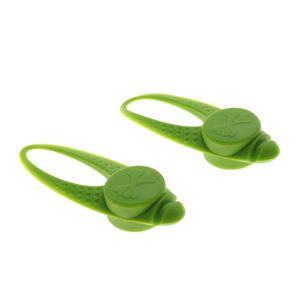 2pcs wasserdichte LED Hundehalsband Sicherheit Nacht gehen Lichter Schlüsselbund grün 8x3x1.5cm