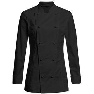 Größe M Greiff gastro moda Damen Cuisine Premium Kochjacke Regular Fit Schwarz Modell 5407