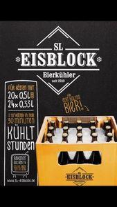 SL-Eisblock - Bierkühler für 0,5 Liter Flaschen als Bierkastenkühler