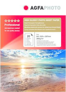 AgfaPhoto Professional Photo Paper High Gloss 260 g A 4 20 Bl