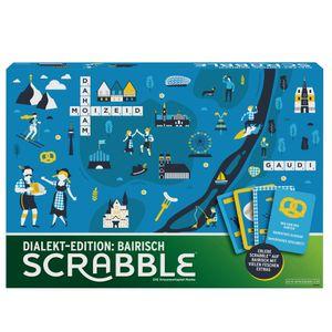 Mattel Games Scrabble Dialekt-Edition Bayern, Gesellschaftsspiel, Familienspiel