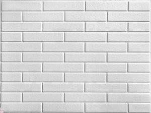 PVC-Verkleidung PVC FLIESEN Wandverkleidung Wandblender Wandpaneelen Weiße ZIEGEL (0,25qm)