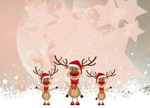 4x Tischsets Weihnachten Motiv 'Die Weihnachtselche' / abwaschbar