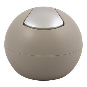 Spirella Kosmetikeimer 1 Liter Abfalleimer Schwingdeckeleimer Tischabfalleimer Bowl Taupe matt