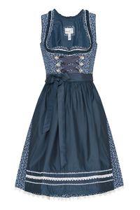 MarJo Mini Dirndl 60cm dunkelblau gemustert dunkelblau Domenica 006474 Größe: 38