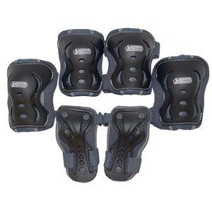 Best Sporting Schützer Set HQ, Kinder Knie-, Ellenbogen- und Handgelenkschützer, Größe XS/S M, Farbe:grau, Größe:M