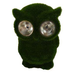 Dekofigur Solarleuchte Frosch / Eule / Hund - Grün Solarlampe Tierfigur Farbe Eule